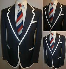 Da Uomo Navy Blue 40 Nautica Regata College Tennis Blazer Giacca Cappotto Sport