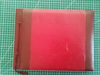 Album photo ancien vide rouge circa 1950 60 pages