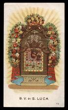 antico santino cromo-holy card MADONNA DI S.LUCA in BOLOGNA salvardi