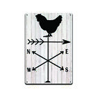 Chicken Weathervane Tin Sign, Funny Bathroom Home Dcor Sign, Office Sign TS550