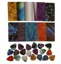 guitar pick strip pack, pick punch refill kit, plastic card assortment / variety