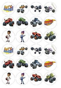 24 x Blaze & the Monster Machines Edible image cupcake toppers Pre-Cut