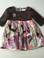 Toddler Girl Corduroy and Velour Dress by Trish Scully, Size: 4T
