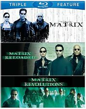 The MATRIX TRILOGY - HI-DEF BLU-RAY ALL REGIONS 3 DISCS KEANU REEVES