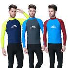Men Anti-UV Long Sleeve Swimwear Snorkeling Suit Swiming Surfing Diving Tops