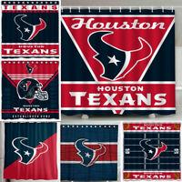 "Houston Texans 72"" x72"" Waterproof Fabric Shower Curtain Bathroom Toilet Decor"