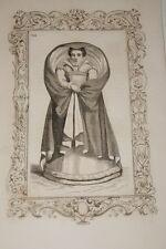 COSTUME FEMME NOBLE BARABANT OU ANVERS CESARE VECELLIO 1860 GRAVURE PRINT R945