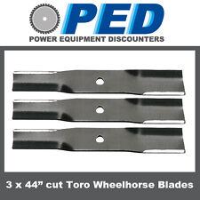 "3 x blades to fit 44"" cut Toro Wheelhorse ride on mower"