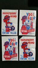 1977 Huckleberry Hound And Yogi Bear Fortune Teller Pack 4 Pack Lot Very Rare