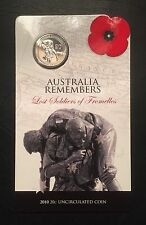 2010 Australia Remembers - Lost Soldiers 20c coin UNC