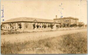 "1910s LIMON, Colorado RPPC Real Photo Postcard ""SCHOOLS"" Building / Street View"