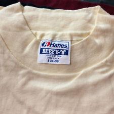 Dope Vintage 80s Deadstock Hanes Hi Cru Collar Surf Blank Plain T Shirt USA S
