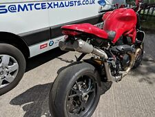 Ducati 1200R Monster twin high level stainless race exhaust system with fittings