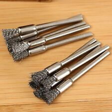 5mm Rotary Tool Steel Wire Wheel Brush Cup Shank for Rust Weld Power Drill 10pc