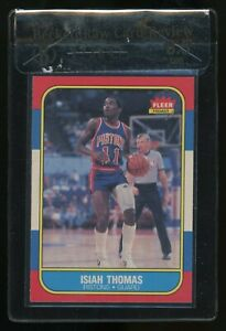 1986 Fleer Basketball #109 Isiah Thomas Pistons RC Rookie HOF BGS 8.5 RCR