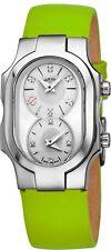 Philip Stein Women's Signature Silver Diamond Dial Strap Quartz Watch 100DSMOPKG
