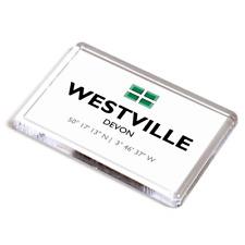 FRIDGE MAGNET - Westville, Devon - Lat/Long SX7344
