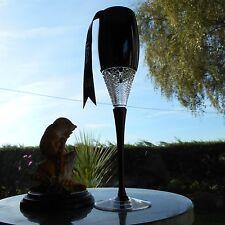 "Waterford Crystal JOHN ROCHA BLACK MUSE LEDA 10 5/8"" CHAMPAGNE flute OR flutes"