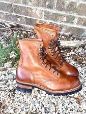 Frye Mens Logger Biker Boots Brown Leather Size 11 M Black Label Work Boots