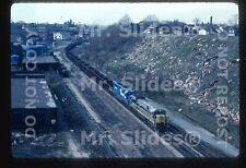 Original Slide CR Conrail /Erie Lackawanna Paint U33C 6574 & 1 Action In 1978