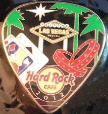 Hard Rock Cafe LAS VEGAS 2012 POSTCARD Series Guitar Pick PIN Post Card #67887