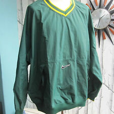 Nike Men's Training Warm Up Track Top Green and Yellow Gold Vintage 90s Size XL