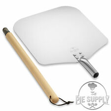 Aluminum Pizza Peel With Detachable Wood Handle Paddle For Baking Oven Amp Grill