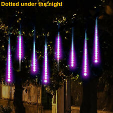 Party LED Lights Meteor Shower Rain Snowfall Xmas Tree Garden Outdoor Purple UK