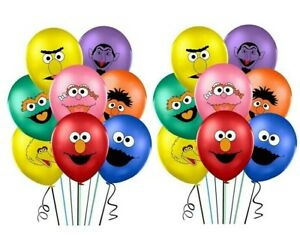 "16PCS 12"" Sesame Street Balloons Birthday Decoration Party Cookie Monster Bird"