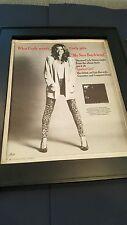 Carly Simon My New Boyfriend Rare Original Promo Poster Ad Framed!