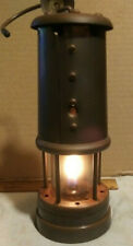 British Coal Mining Aberaman Colliery Miners Brass Lamp Lantern Type Vale Uk