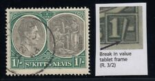 "St. Kitts-Nevis, SG 75ca, used ""Break in Value Tablet"" variety"