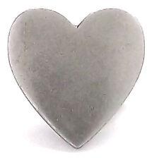 "Heart Blank Concho Snap Cap Plain Metal 7/8"" 1265-92 by Stecksstore"