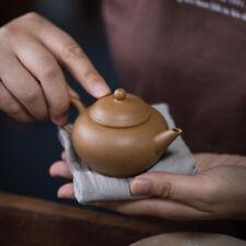 traditional craft thin glaze old duan clay real yixing zisha tea pot level pot