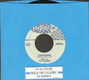 Don & The Galaxies - Sundown/Avalanche Vinyl 45 rpm record Free Shipping