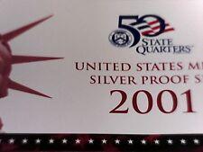 2001 S  Silver Proof  Set W/Quarters