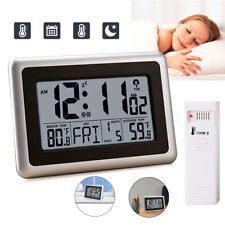 Atomic Creative Lcd Digital Desk Wall Alarm Clock Thermometer Display Snooze Usa