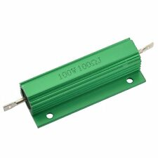 Aluminum Shell 100W Watt 100 Ohm Wirewound Power Resistor LW