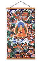 Shakyamuni Buddha Avadana Legend Painting Buddhism Canvas Wall Art Print Poster