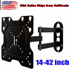 "14""-42"" LCD LED Plasma Flat Tilt Full Motion Swivel TV Wall Mount Bracket BlackV"
