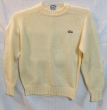 New W/Tags Vintage Kids Acrylic Izod Lacoste Pullover Sweater Size 16 Off White