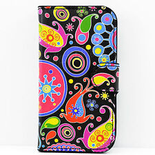 PU Leather Credit Card Holder Pocket Pouch Flip Cover Case For Motorola Moto E