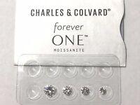 Forever One Near Colorless G H I Moissanite Rnd 7mm 1.25 ct Charles & Colvard