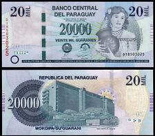 PARAGUAY 20000 GUARANIES (P230c) 2011 SERIE D UNC