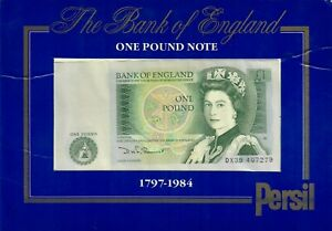 BANK OF ENGLAND - ONE POUND NOTE £1 IN PRESENTATION PACK - SERIES D (Y9)