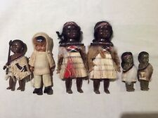 LOT of 6 Vintage Dolls - Starfish Hands, Tribal, Celluloid, Hard Plastic