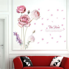 Chinese Rose Flowers Hoom Room Decor Removable Wall Sticker Decal Wandtattoo