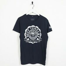 Vintage BEST COMPANY Big Graphic T Shirt Tee Navy Blue | Small S