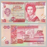 Belize 5 Dollars 2015 p67f unz.