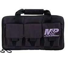 New! Smith and Wesson M&P Case Double Pistol Handgun Range Bag Ammo BLACK
